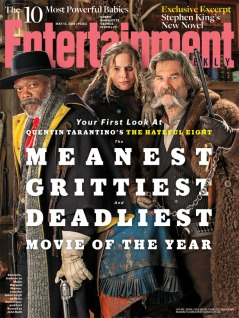 (L to R) Samuel L. Jackson, Jennifer Jason Leigh, Kurt Russell