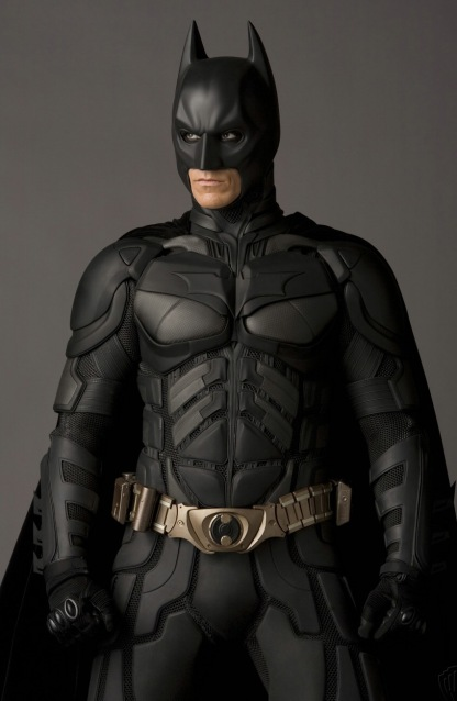 Christian Bale in Batman Begins, The Dark Knight, and The Dark Knight Rises